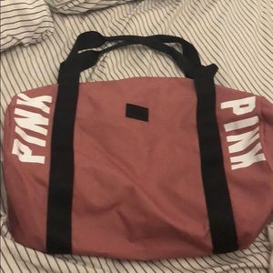 Never used pink duffel bag